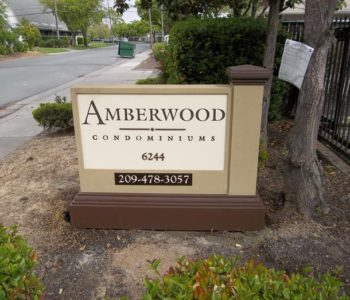 Amberwood Condominiums Monument Sign