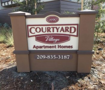 Courtyard Village Apartments Monument Signs