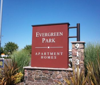 Evergreen Park Monument Sign