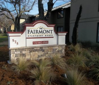 Fairmont Apartment Homes Monument Sign