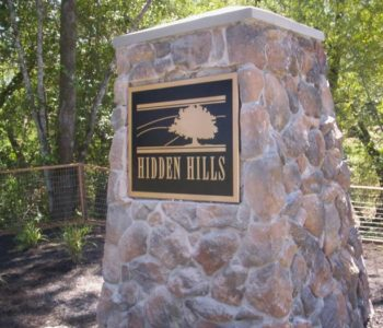 Hidden Hills Monument Sign