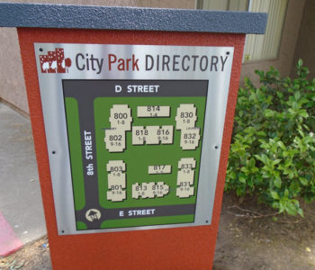 Apartment Directory Sign