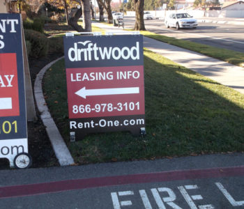 Apartment Leasing Information Sign