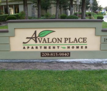 Avalon Place Apartment Homes Monument Sign