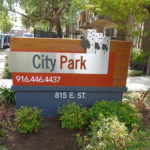 City Park Apartments in Sacramento Sign