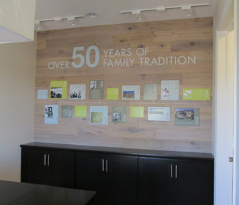 Wall Lettering Display