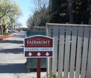 Fairmont Leasing Office Directional Sign