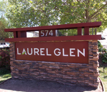 Laurel Glen Apartment Sign With Numbering