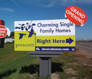 real estate outdoor directional sign