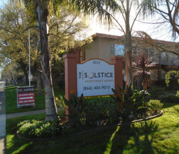 Solstice Apartment Homes Monument Sign