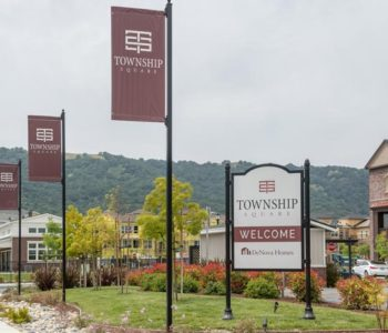 Township square banner flags