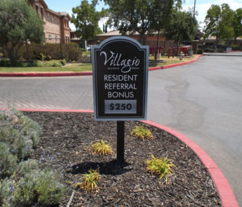 Villagio Apartment Homes Promotional Sign