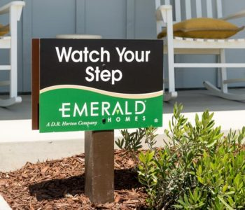 Emerald Homes Caution Sign