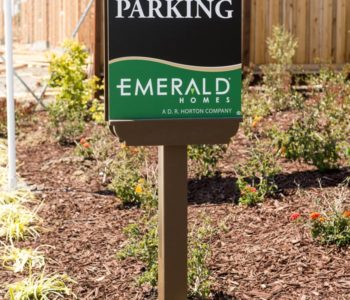 Emerald Homes Parking Sign