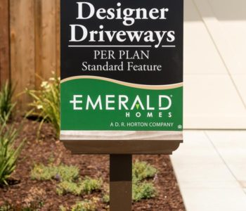 Emerald Homes Sales Sign