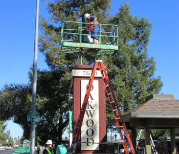 Amberwood Apartments Monument Sign Install
