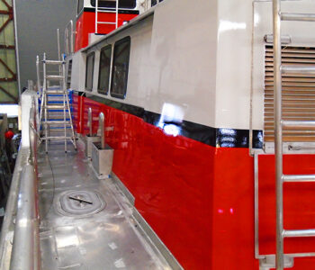Fire Boat install on-site.